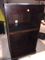 Mahogany colored wooden stand