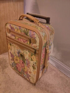 Small floral Carry-on suitcase