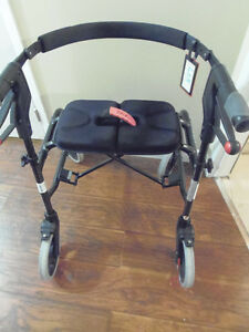 NEXUS Folding Walker w/Seat Backrest Solid Great Condition: $75!
