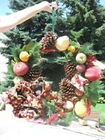 Front door christmas wreath 30 inches round