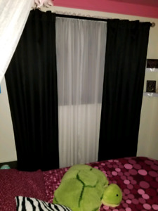 2 Black Out Curtain Panels