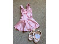 Girls ballet leotard and pumps