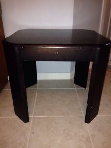 2 Black Wooden Tables