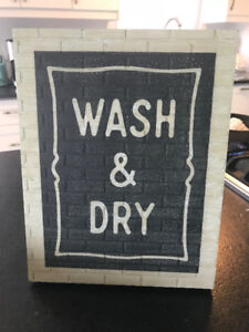 NEW NICE WASH & DRY LAUNDRY ROOM SIGN HOME DECOR