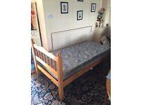 Pine bed, single, no mattress