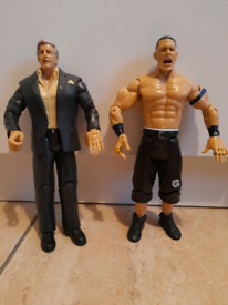 John Cena and Ric Flair wrestler figures £5 each