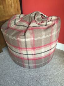 Bean bag tartan check from Dunelm