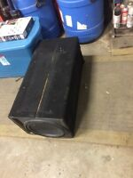 12 inch sub box for a case of brava lager