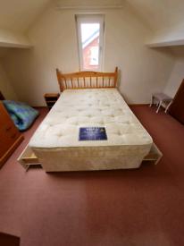 Double divan bed and headboard £135