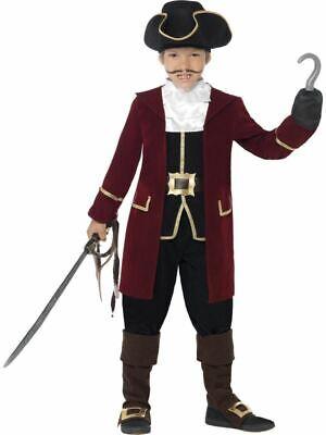 Jack Hook Treasure Pirate Fancy Dress Costume World Book Day (Captain Hook Jacke)