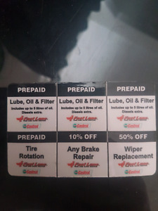 3 oil changes and more!
