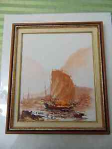 2 Beautiful paintings 1 Water colour and 1 oil painting London Ontario image 5