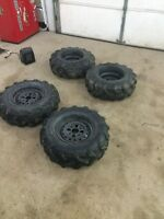 4 mud bug tires and rims