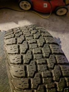 Winter tires: 215/60R16 on 5 bolt steel rims