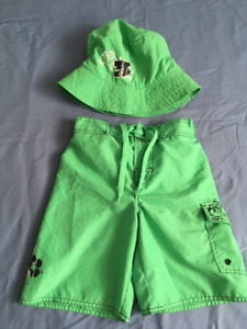 Green Matching Shorts & Hat By 3sixT - Size M - 6-7