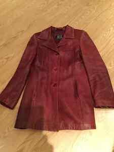 Manteau de cuir