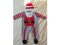 Baby boy santa outfit 3-6 months