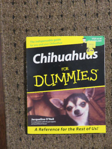 Small dog cone and Chihuahuas for Dummies Book  $5