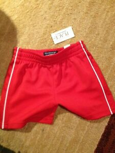 New red shorts
