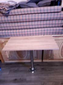 Island table and leg for campervan