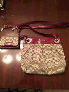 Coach purse with matching wallet 120.00 OBO
