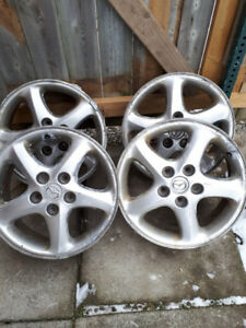 16' 5X114.3 PROTEGE RIMS(4) OEM FOR SALE!!!!!