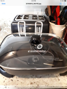 Toaster and Electric Fry Pan