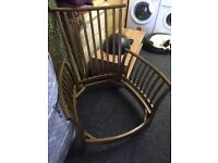 Ercol 3 seater and chair £275