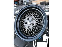 "16"" Klutch alloy wheels Alloys Rims tyre tyres 5x114 Honda Subaru Nissan Mitsubishi jap deep dish"