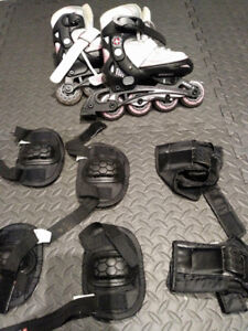 Little kids Roller Blades with pads