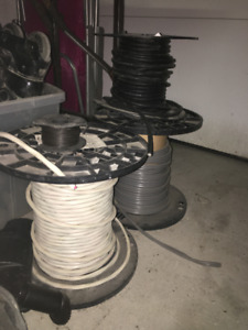Three (3) Large Spools of Wire