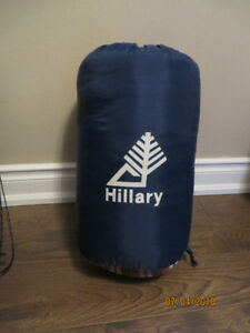 Portable Hillary Sleeping Bag with cover for camping, sleepover