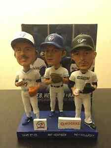 Stieb, Hentgen, Halladay trio bobblehead in box.