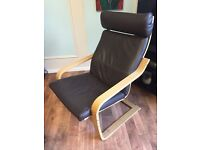 IKEA Poang Armchair and Footrest