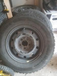 215 70 15 winter tires + 5bolt steelies