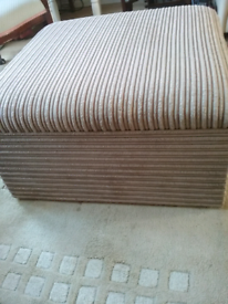 Large Storage footstool sofa seat in good condition