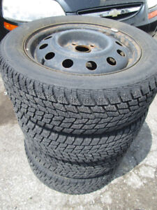 SET OF 4 - 185/60R15 Toyo Observe with Steel Rims off YARIS!