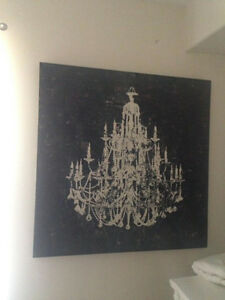 Chandelier Wall Painting