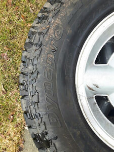 4 x  235 75 R 15 DYNAPRO AT and rims and spare