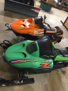 2002 and 2007 Arctic cat 120z