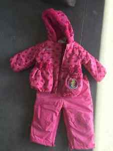 Baby Girl Snowsuit and Extra Jacket 12-18 mth