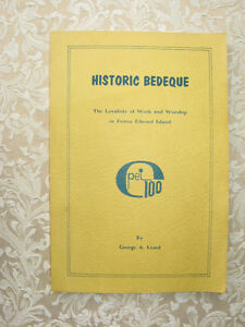 HISTORIC BEDEQUE, by GEORGE A. LEARD (1973)