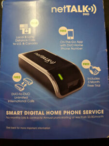 NetTalk DUO II - Wifi/Internet Phone Adapter (2nd Generation)