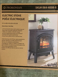 Nd New Electric Fireplace In Box Must Sell Asap