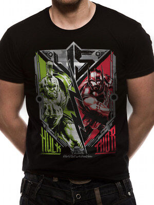 3021 Vs contro T-Shirt Thor Ragnarok Avengers Infinity Guerra Iron Man Hulk Uomo ()