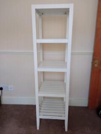Jasper Conran white storage shelves unit bathroom/ bedroom baskets