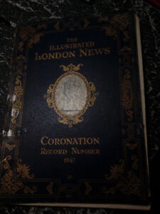 Vintage English Coronation book for sale.by