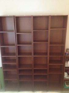 4 Ikea Billy Bookcases