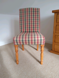 Chair in Red green and cream check tartan *Reduced for Quick Sale*