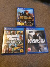 PS4, GTA V, COD Modern Warfare, KNACK
